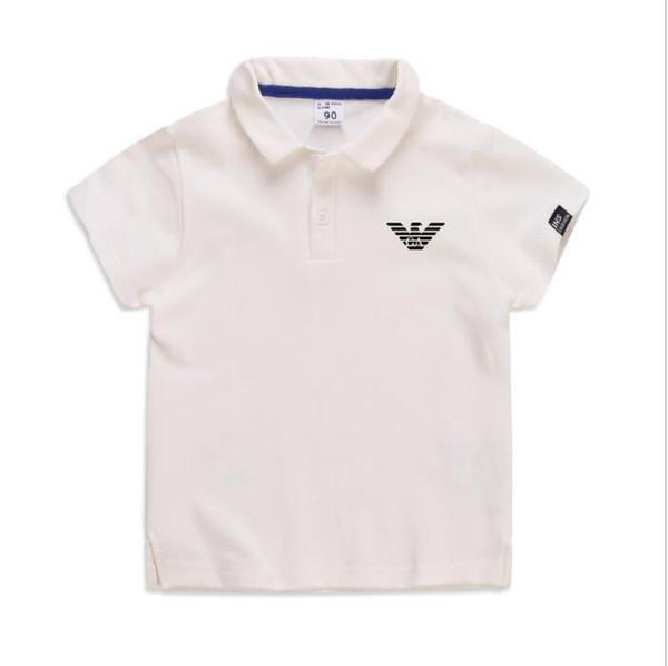 top popular 19 colors summer boys polo shirt short sleeve children Breathable Summer tops kids brand shirts 2-6 boy girl solid color shirt 2020