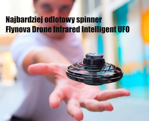top popular FlyNova UFO Fidget Spinner Drone Infrarouge Kolorowe LED Swiatelka Efekt Bumeranga Port USB Zabawki Typu Spinner Swateczne 06 2021