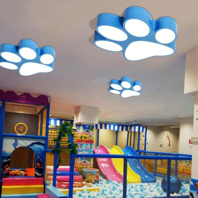 2019 Modern Creative Paint Colorful Iron Children Bedroom LED Lighting Home  Decoration Arcrylic Footprint Design Ceiling Lamp From Jess234, $174.88 |  ...