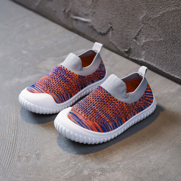 Hollow soft bottom kindergarten indoor shoes new children's shoes breathable boys and girls baby single net shoes