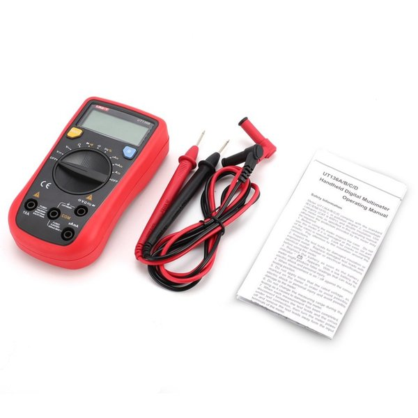 UNI-T UT136B Mini Digital Multimeter 4000 Counts Auto/Manual Range AC/DC Volt Amp Ohm Capacitance Frequency Continuity Tester