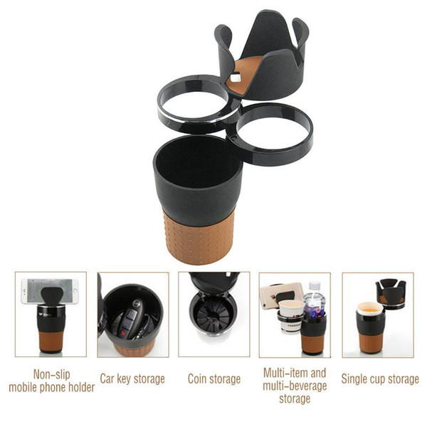 best selling Multifunction Car Drinking Bottle Holder Rotatable Water Cup Holder Sunglasses Phone Organizer Car Interior Storage Accessories