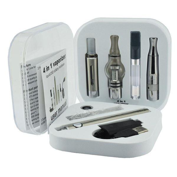 Subtech 4 in 1 vape kit evod battery Electronic cigarette Multi dry herb Vaporizer Starter Kit Vape Pen mt3 tank factory sell free shipping