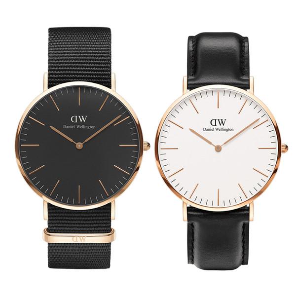 Uhren Herren DW Luxus Daniel Wellington Uhr Herren 36 40mm Herren Damen Mode Gold Quarz Damen Armbanduhren Nylonband montres pour hommes