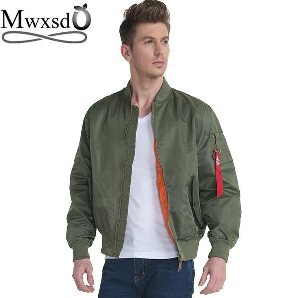Mwxsd brand Euro size mens MA1 Pilot Bomber Jacket Men flight jacket man windbreaker Airborne Flight Tactical