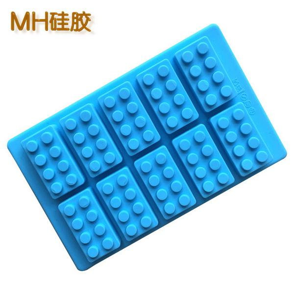DHL 100pcs Silicone Brick Style Freezer Ice Cube Tray Ice Mold Maker Bar Party Drink DIY Building Block Sharped Tray