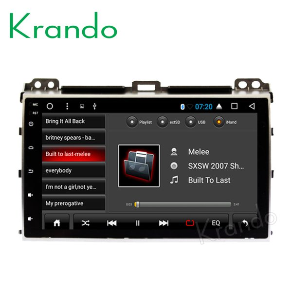 "Krando Android 8.1 9"" IPS Full touch big screen car Multimedia player for TOYOTA PRADO 120 2002-2009 audio player gps BT wifi car dvd"