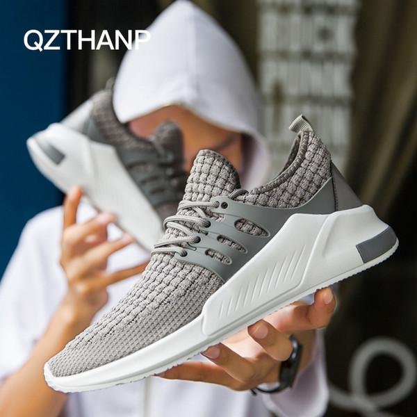 Popular venda quente Homens nova Primavera Malha Respirável moda masculina causal sapatos para homens lace-up de Borracha Ultra leve sapato