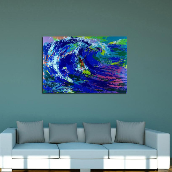 Abstract Surfing , Home Decor HD Printed Modern Art Painting on Canvas / Unframed / Framed