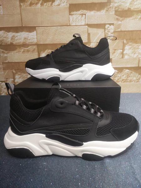 Designer Schuhe B22 Sneaker Herren Freizeitschuhe Frauen Platform011 Sneaker Low Top Lace-Up B22 Sneaker In Leder Strick Luxus Paar ShoesL26