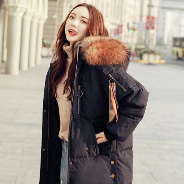 Inverno marca de moda boa qualidade mais verdadeira pato para baixo feminino casaco de pele real coleira com capuz quente para baixo casacos wq701 dropship