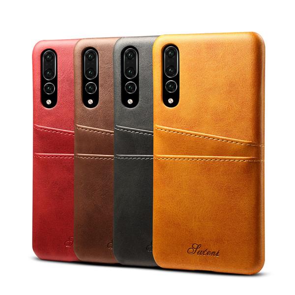 Caso protetor New Couro para Huawei P30 P20 Pro Companheiro 20 Companheiro 30 Pro cartão de bolso à prova de choque tampa traseira