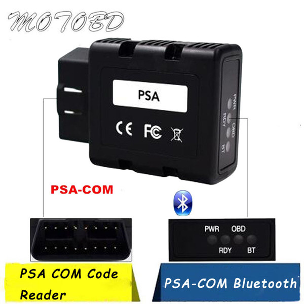 PSA-COM Bluetooth Interface OBD2 Diagnostic&Programming For Citroen/Peugeot Replace of Lexia 3 PP2000 PSACOM PSA COM Code Reader