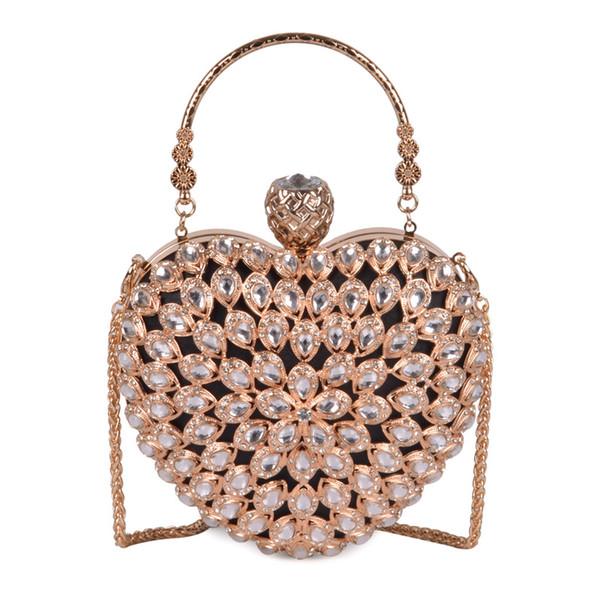 Rose sugao Femmes Soirée Pochette Magnifique Perle Cristal Perles De Mariée Sacs De Noce CrossBody Sacs À Main love package Sac À Main