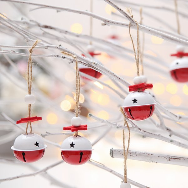 1pc 4*3cm Christmas Bells Metal Jingle Bells Christmas Tree Decoration for Home Shop Door Ornament Xmas Baubles Bell Arts Crafts