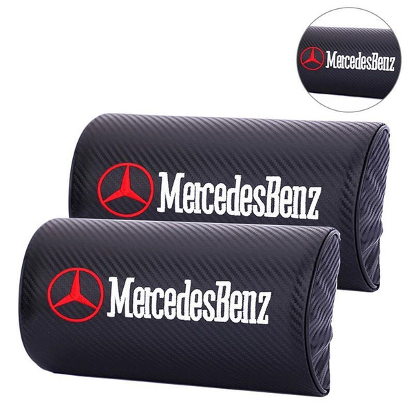 For Mercedes Benz GLA GLK GLE C200L E300L 2PCS New Car Neck Pillow Support Headrest Seat Cushion Covers Car Styling