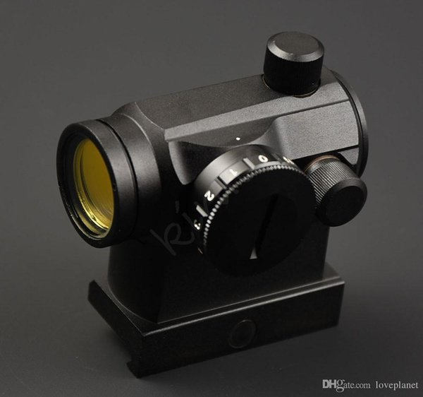 Tactical micro 1x 22 Red Dot Sight scope with 20mm 1913 picatinny rail mount base Increase adapter hunting shooting R3173