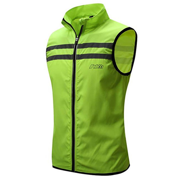 top popular Mounchain Adult Cycling Reflective Vest Outdoor Safety Running Cycling Windproof Reflective Vest S -XXL upf15 2020