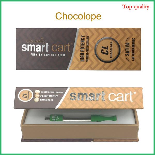 Le più recenti Smart Cart Scatole magnetiche Vape Cartridge Top Airflow 1.0ml Ceramic Coil Thick Oil SmartCarts Vapor Green Tank No Leakage Atomizer