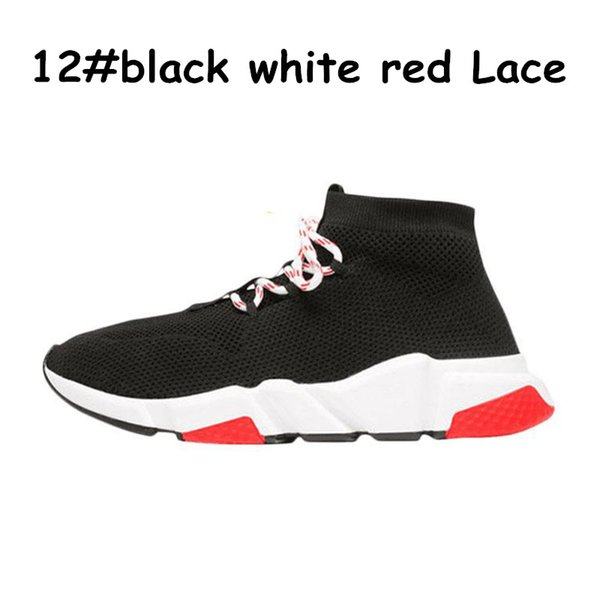 A12 black white red lace