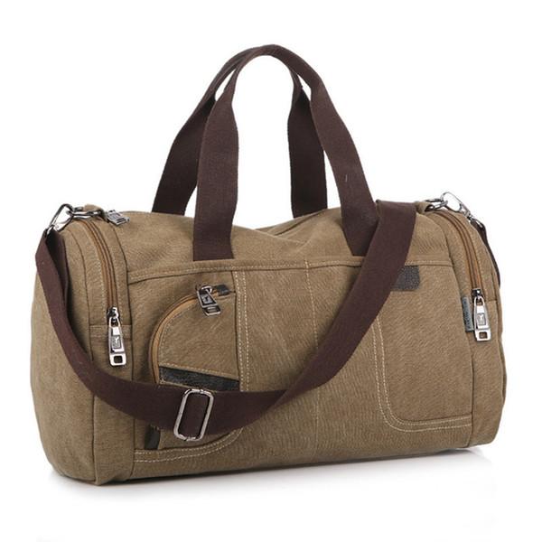 Men Shoulder Bag Handbag Vintage Solid Color Canvas Bag Fashion Casual Messenger Bags Y19061705