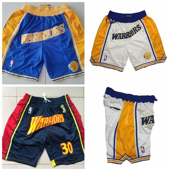 low priced 9ecdd e50b0 2019 Men'S Golden States GSW Warriors Jersey JUST DON 2018/19 Statement  Edition Swingman Basketball Shorts From Zhouzhoufa, $33.51   DHgate.Com