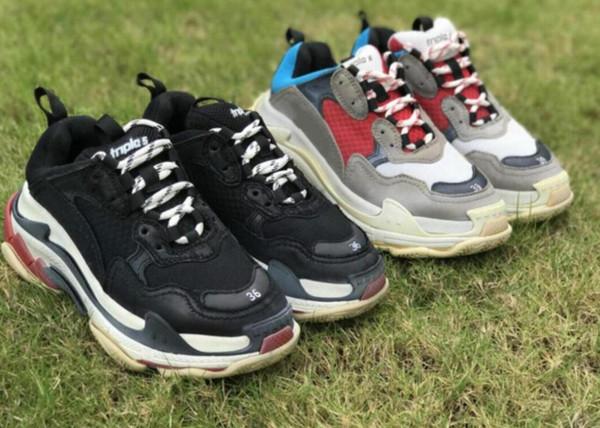 2019 Sınırlı Ucuz Satış womeSneakers Üçlü-S Rahat Baba Erkek Tasarımcı Ayakkabı Kadınlar için Bej Siyah Ucuz Spor Eğitmenler Chaussures
