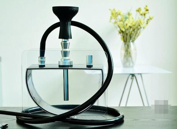 Verre acrylique demi-cercle eau Bong tabac à pipe fumer le narguilé filtre de cigarette arabe Hookah Bowl silicone Outils Set Tuyau Accessoires