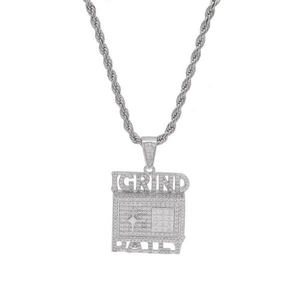 Серебряная веревочная цепь 20inch