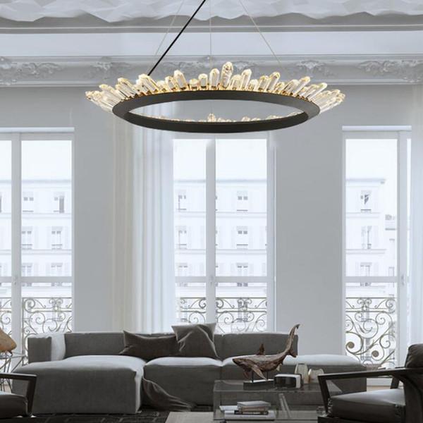 Acquista 2019 Moderno Lampadario Di Cristallo Lampadari Moderni Lampada  Camera Da Letto Sala Da Pranzo Di Illuminazione Nero LED AC 110 V 260 V A  ...
