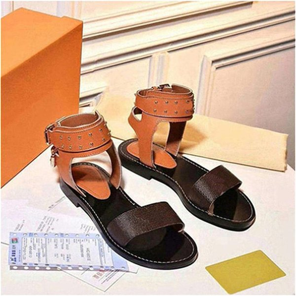 Luxury women nomad sandals Summer Ladies Canvas gladiator style flats sandal black golden sandals for Party Sexy Fashion Ladies Shoes Q22