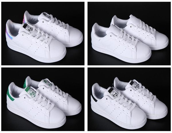 Fashion luxury designer stan men women Leather sneakers Best Quality White Balck Blue Smith Casual shoes Cheap Trainers Shoes