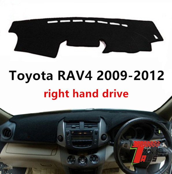 Taijs sağ el sürücü araba dashboard kapak için RAV4 2009-2012 RAV4 için güneş gölge anti UV oto dashboard halı mat