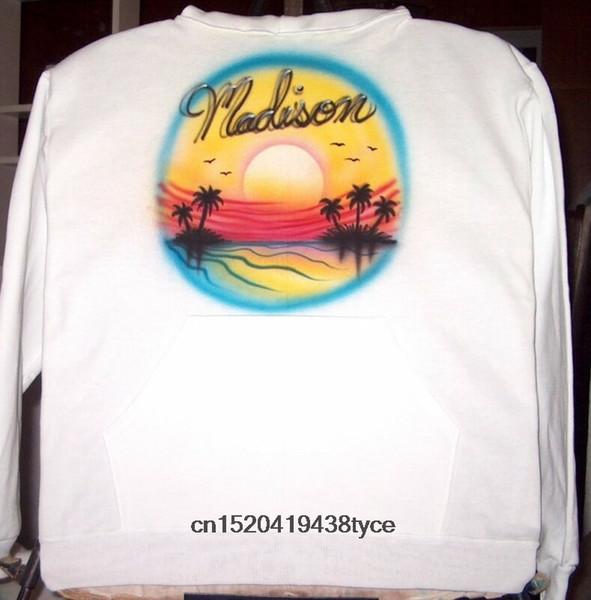 cb1fcce4 Men t shirt Airbrushed T-shirt SUNSET OCEAN SCENE S M L XL 2X 3X 4X tshirt