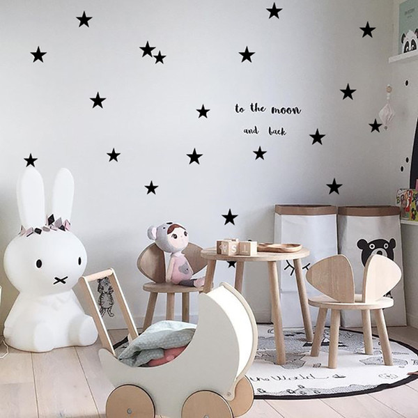 Bebek Kreş Yatak Odası Yıldız Duvar Sticker Çocuk Odası Ev Dekorasyon Çocuk Duvar Çıkartmaları Sanat Çocuklar Duvar Çıkartmaları Duvar Kağıdı