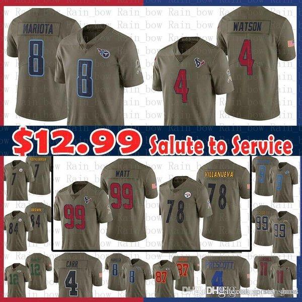 21d8c382648 sale Tennessee 8 Marcus Mariota Titans Jersey 78 Alejandro Villanueva  Steelers Houston 4 Deshaun Watson Texans