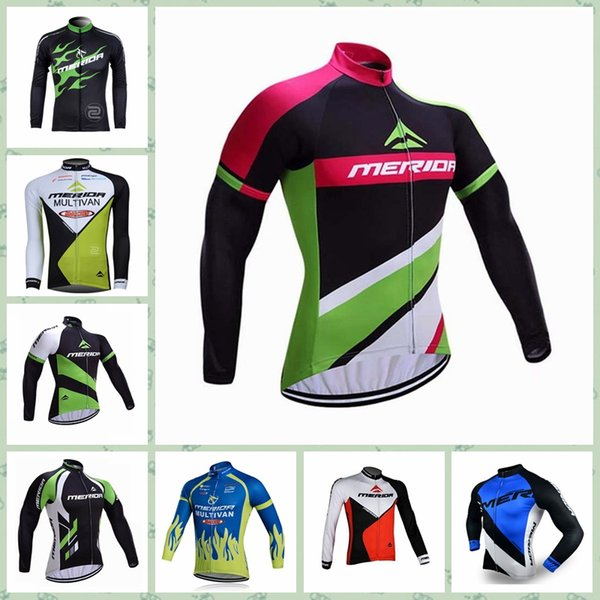 2019 MERIDAteam Cycling long Sleeves jersey High quality Multi Types Team Anti-UV Cheap New Arrive Hot W30817