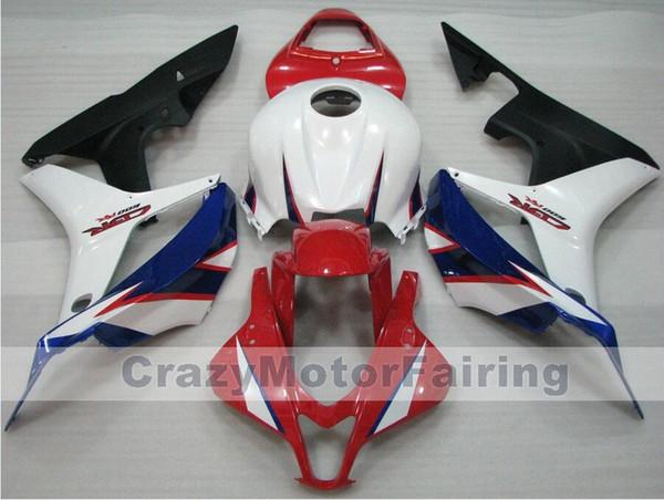 Nouveau style plastique ABS moto de moulage par injection Carénage Kits 100% pour Honda CBR600RR F5 07 08 2007 2008 carrosserie bleu fixé sur commande rouge