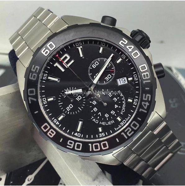 reloj de lujo al por mayor, relojes de diseño, multifunción reloj cronógrafo, 44mm, reloj de cuarzo de los hombres VK, F1 entrega gratuita,