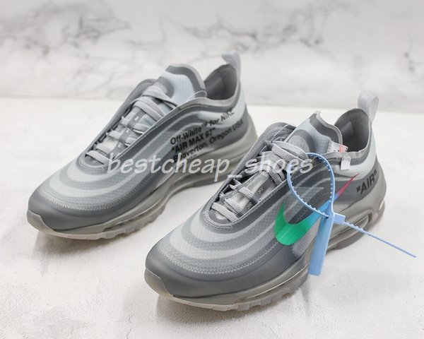 wholesale dealer fbaca 1eb12 2019 Menta OFF 97 OG Bullet Mens Running Shoes For Men White Black Metallic  Sports Athletic Trainers 97s Womens Sneakers Chaussures Size 12 From ...