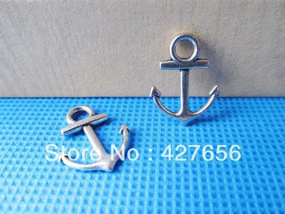 Livraison gratuite 200pcs argent antique / bronze / doré connecteur ancre pendentif charme / conclusion, pour bracelet, accessoire de bijoux de bricolage