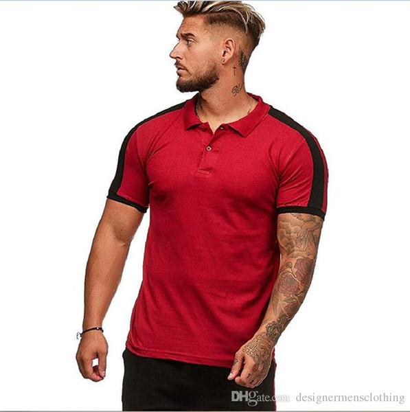 Sommer Herren Designer Polos Revers Hals Kurzarm Mode Herren Tops lässig einfarbig männlich T-Shirts