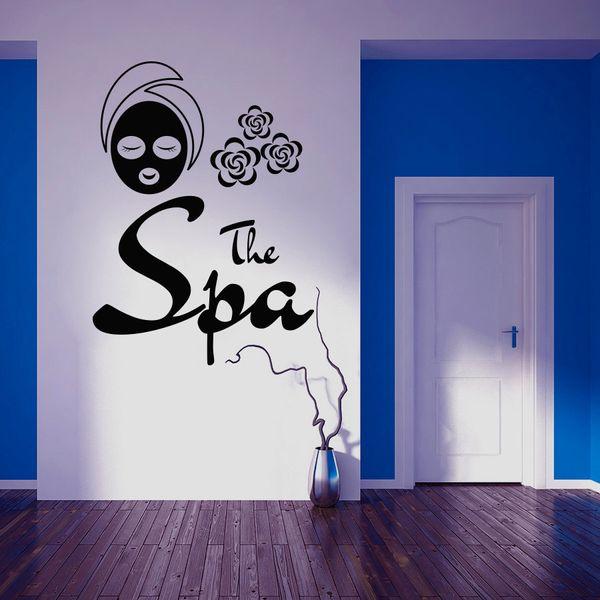 Il Segno Spa Finestra muro Adesivi per salone di bellezza Trattamenti viso Maschera della parete del vinile decalcomanie della Day Spa Massusista Body Massage Decal