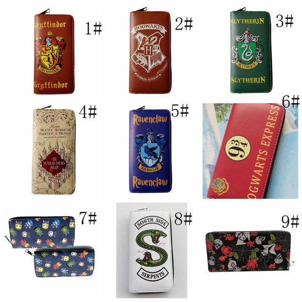 Harry Potter Cartoon Long Wallet Short Zipper Purse Coin Wallets Clutch Bag Printed Pouch Business Kids Collection Gift Party Favor