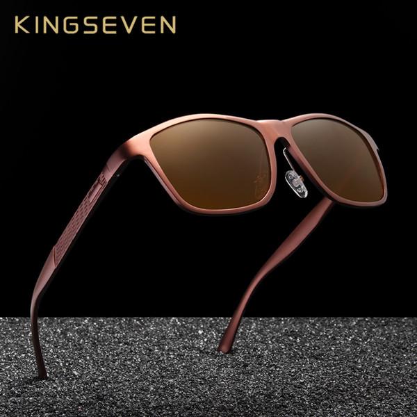 Kingseven Retro Alüminyum Magnezyum Güneş Gözlüğü Polarize Vintage Kadınlar Güneş Gözlükleri Sürüş Erkekler Gözlük Aksesuarları MX190723