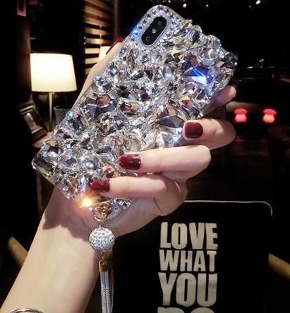 Luxo bling strass cristal strass tampa traseira diamante case para iphone 6 6s 7 8 além de iphone x / xs max xr