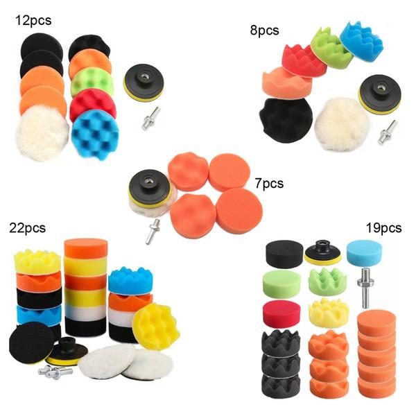 22Pcs 3/'/' Inch Sponge Polishing Waxing Foam Buffing Pads Kit For Car Polisher