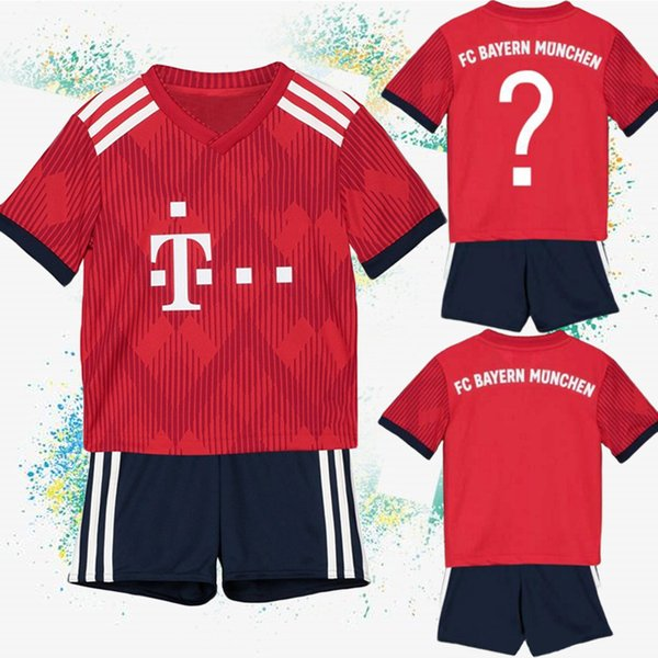 Bayern Munich Soccer Jerseys Thailand Bayern Children clothes 10 ROBBEN 9 LEWANDOWSKI Kids Kit Cheap and fine customizable