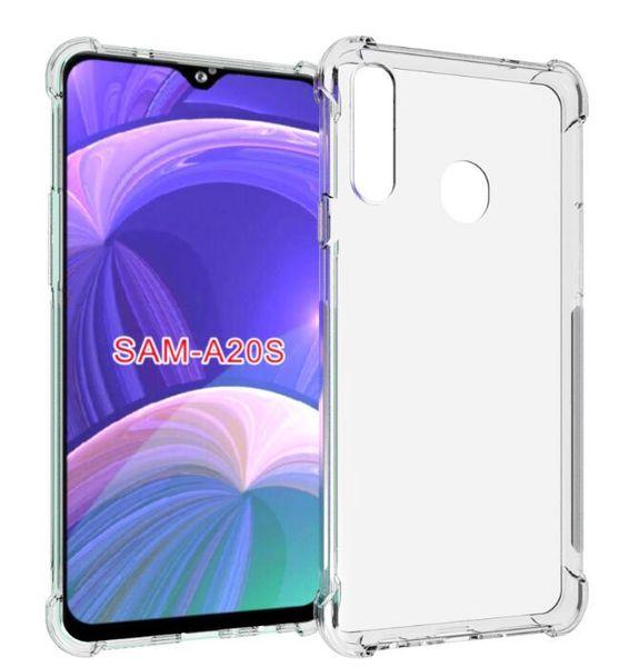Limpar Para Samsung Galaxy A10S A20S A30s A50s A70s A10E A20e M10S M30s Silicone Gel macio da pele tampa do telefone Transparente