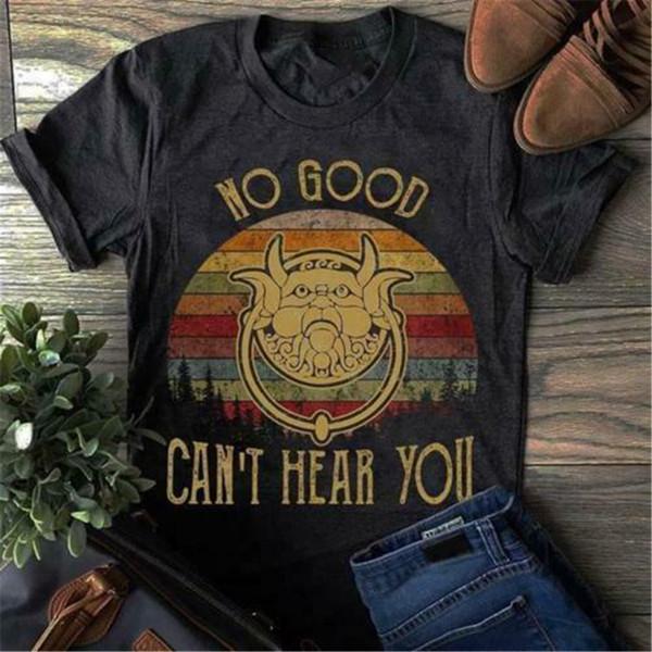 Labyrinthe No Good ne peut pas vous entendre Vintage Rétro noir T-shirt S-3TG Slim Fit T-shirt